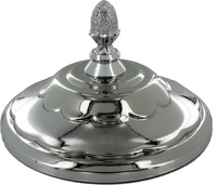 20cm Chrome Lid with Knob