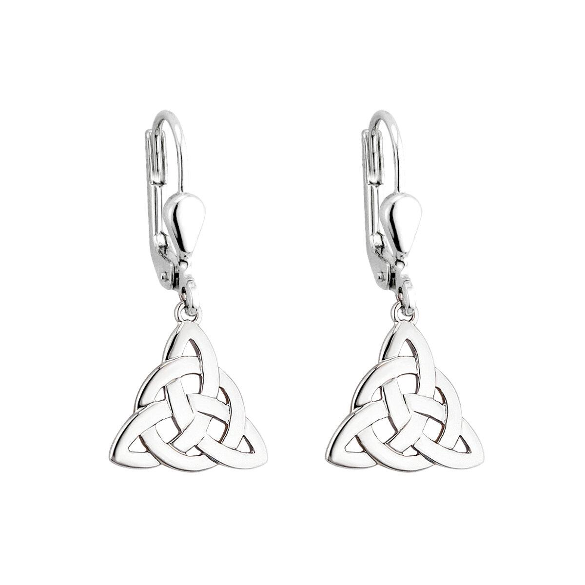 sterling silver celtic knot drop earrings s3694 from Solvar
