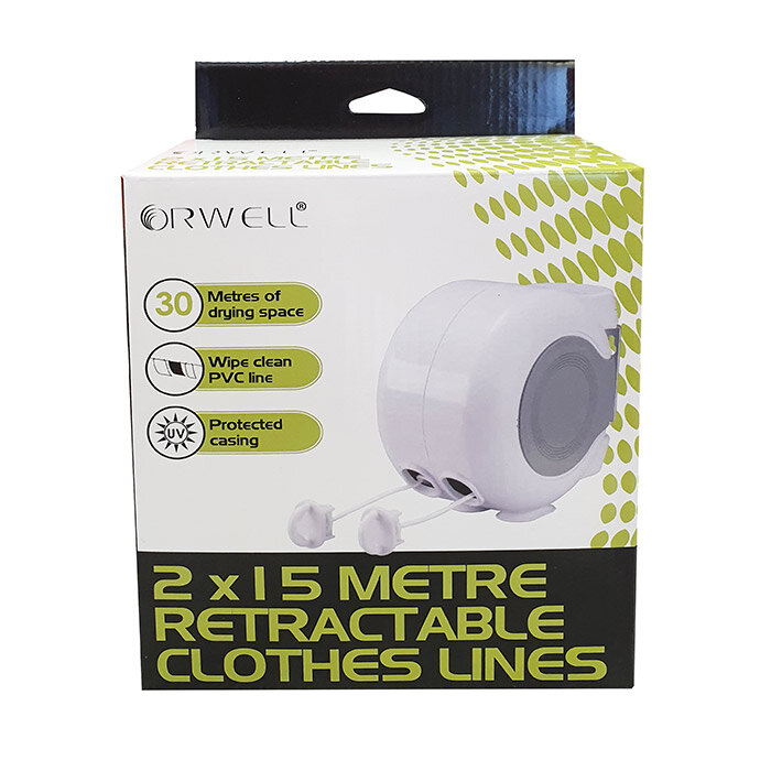 Orwell 30mtr Twin Line Retractable Clothes Line