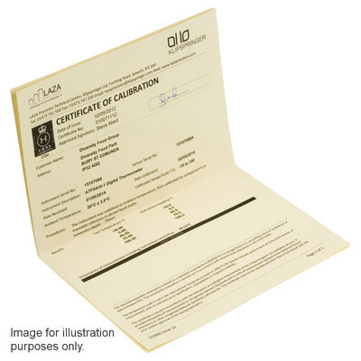 LAZAPORT8; UKAS calibration and annual service, c/w calibration certificate