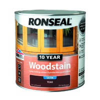 RONSEAL 10 YEAR QUICK DRYING WOODSTAIN SATIN TEAK 2.5 LTR