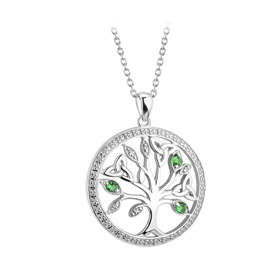 S/S CRYSTAL ILLUSION TREE OF LIFE PENDANT