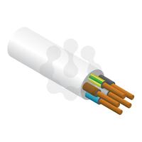 5x0.75mm PVC Flex White