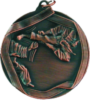 60mm Bronze Karate Medal