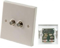 Double F-Type Wall Plate
