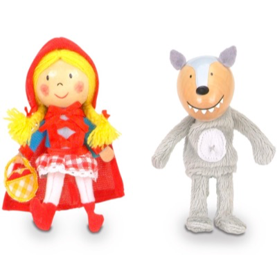 Little Red Riding Hood Finger Puppet Set - the woodcutter, little red riding hood, the wolf, and granny