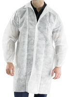 White Polypropalene Disposable Warehouse Coat