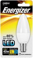 ENERGIZER LED 5.9W (40W) 470 LUMEN B15 OPAL CANDLE LAMP WARM WHITE