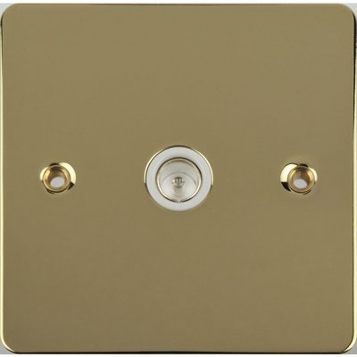 Flat Plate Polished Brass 1G COAXIAL Socket WH|LV0701.0133