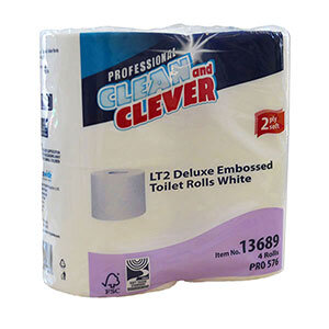 Clean and Clever LT2 Deluxe Embossed Toilet Roll 2 Ply 210 Sheet