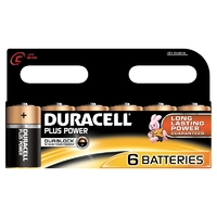 Duracell Plus MN1400 C Battery 6pk