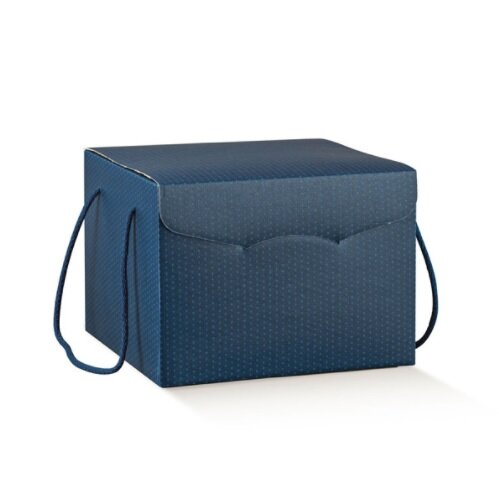 Blue Giftbox with Rope with Matching Rope Handles. (Box of 20)