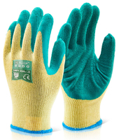 Multi-Purpose Green Latex Grip Gloves