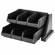 Organiser 6 Bin Black Polyethylene