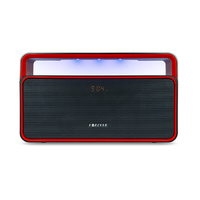 BS-600 Bluetooth Speaker FM Radio Black/Red