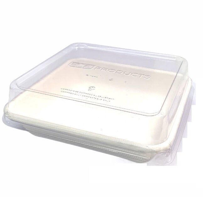Biodegradable Square Tray With Lid 1064ml (Box of 200)