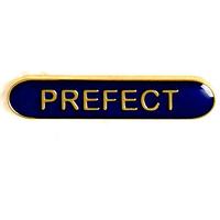 Prefect - Bar Shaped School Badge (Blue)