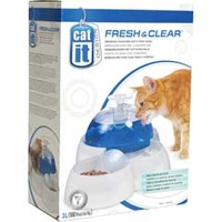 Hagen Cat-It Fresh & Clear Drinking Fountain with Bowl - 3 Litre