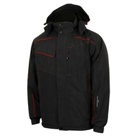 LCJKT445 BLACK  LEE COOPER WATERPROOF WINDPROOF BREATHABLE JACKET WITH PADDED QUILT LINING AND TAPED SEAMS