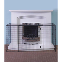 Nursery Fire Guard Black 50x30x12''