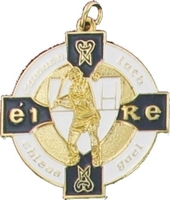 34mm Hurling Medal - Gold / Navy