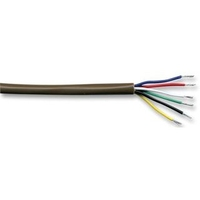 Alarm Cable. 6 Core 7/0.19mm Brown