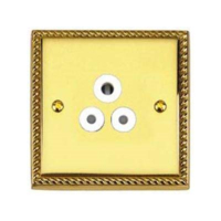BRASS HERITAGE SOCKET 5A 3 PIN