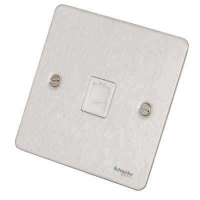 Flat Plate Stainless Steel RJ45 DATA Socket WH Insert|LV0701.0605