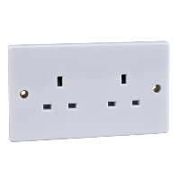 Schneider Ultimate 13A 2Gang Unswitched Socket IP20