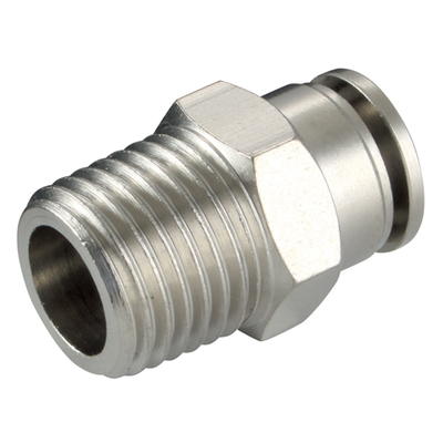 BSPT Male Stud Metal Push In