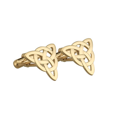GOLD PLATED CELTIC KNOT CUFFLINKS (BOXED)