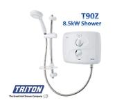 TRITON T90Z 8.5KW WHITE/CHROME PUMPED ELECTRIC SHOWER