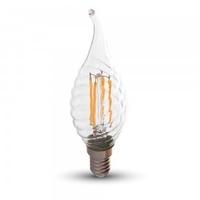 4w Twist Candle Flame Filament Bulb E14 2700K