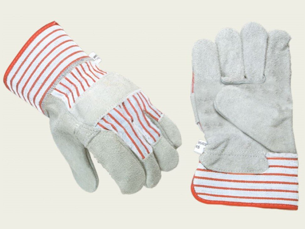 SACOBEL Canadian Grey Split Leather Rigger Glove