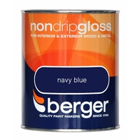 BERGER NON-DRIP GLOSS PAINT NAVY BLUE 750 ML