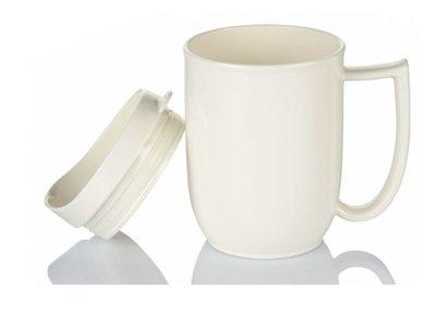 Ivory Dining Mug with lid