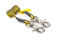"Python Trigger2Trigger Coil Tether, load rating 2.3 kg (5 lbs), length (relaxed) 4.4 cm (1.75""), length (stretched) 70 cm (24""), (10 per pack)"