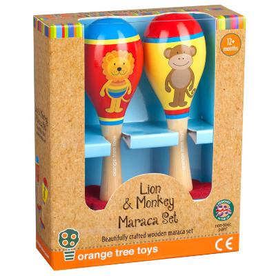 Monkey & Lion Maracas - boxed