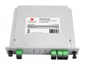 Triax 3 Way Fibre Splitter TOS 03 SC