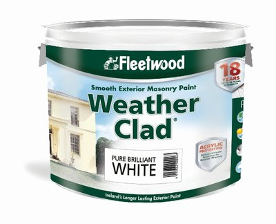 Fleetwood Weatherclad Smooth Masonry Paint 10 Litre