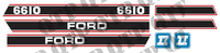 Decal Ford 6610 Force 2 Red & Black