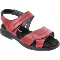 Cosyfeet Red Ladies Sandal (Cher)