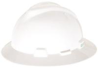MSA V-Guard Hard Hat Ratchet-Full Brim