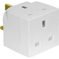 5685 13AMP WHITE 2-WAY ADAPTOR
