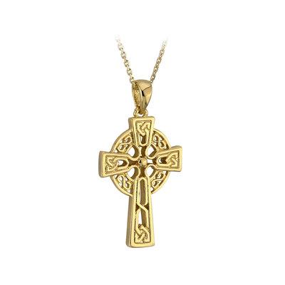 10k gold tiny celtic cross pendant s44943 from Solvar