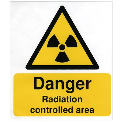 Warning Sign Radiation Controlled Area