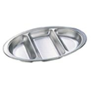 Banqueting Dish Oval 3 Division Stainless Steel 500mm Long