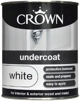 CROWN UNDERCOAT PAINT WHITE 5 LTR