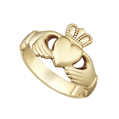 14K HEAVY GENTS CLADDAGH RING