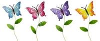 Garden Stick Butterflies 82cm - Mixed Designs